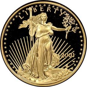 2001 W EAGLE G$10 PF obverse