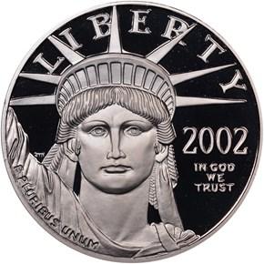 2002 W EAGLE P$100 PF obverse