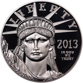2013 W EAGLE P$100 PF obverse