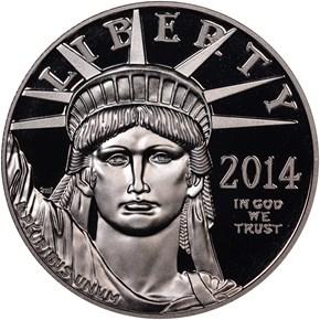 2014 W EAGLE P$100 PF obverse