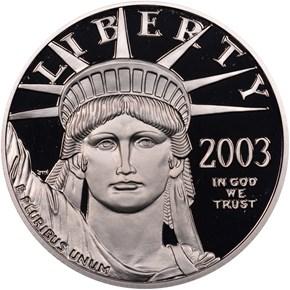 2003 W EAGLE P$100 PF obverse