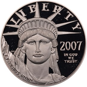 2007 W EAGLE P$100 PF obverse