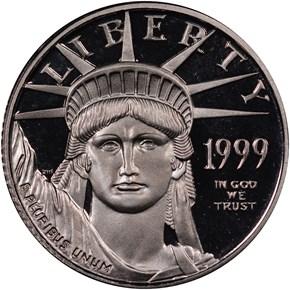 1999 W EAGLE P$10 PF obverse