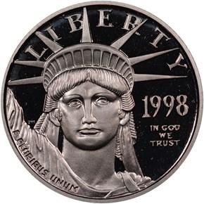 1998 W EAGLE P$10 PF obverse