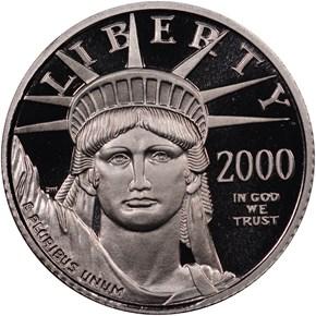 2000 W EAGLE P$10 PF obverse