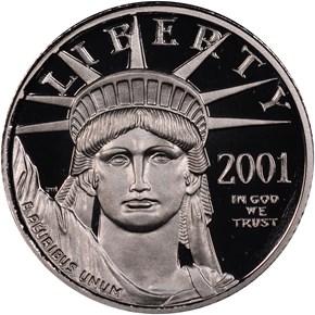 2001 W EAGLE P$10 PF obverse