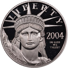 2004 W EAGLE P$10 PF obverse