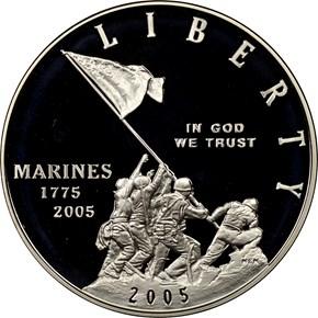 2005 P MARINES S$1 PF obverse