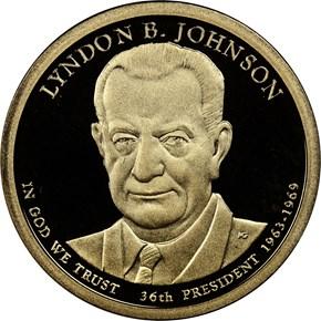 2015 S LYNDON B. JOHNSON $1 PF obverse