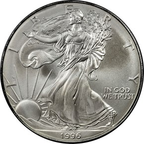 1996 EAGLE S$1 MS obverse