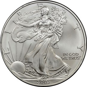 2003 EAGLE S$1 MS obverse
