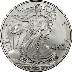 2006 W EAGLE 20TH ANNIVERSARY S$1 MS obverse