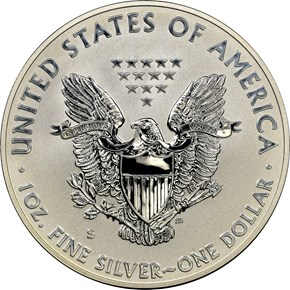 2012 S EAGLE REVERSE PF SAN FRANCISCO EAGLE SET S$1 PF reverse