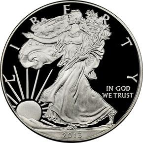 2013 W EAGLE S$1 PF obverse