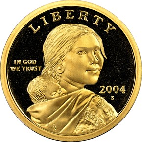 2004 S $1 PF obverse