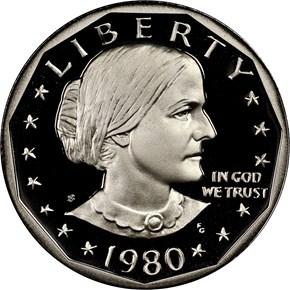 1980 S $1 PF obverse