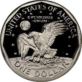 1980 S $1 PF reverse