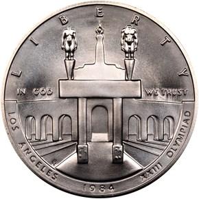 1984 P OLYMPICS S$1 MS obverse