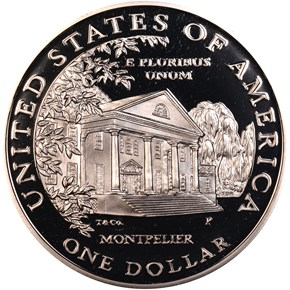 1999P DOLLEY MADISON S$1 PF reverse