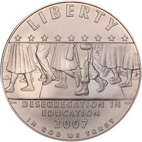 2007 P SCHOOL DESEGREGATION S$1 MS obverse