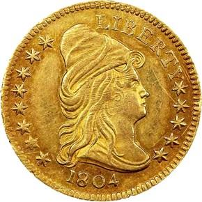 1804 14 STARS REV BD-2 $2.5 MS obverse