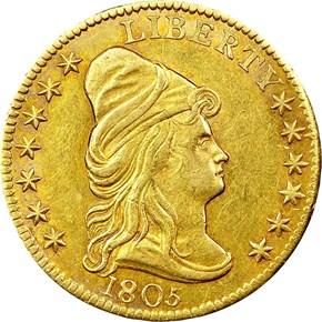 1805 BD-1 $2.5 MS obverse