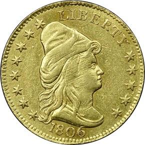 1806/4 STARS 8X5 BD-1 $2.5 MS obverse