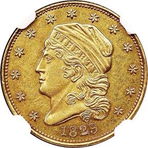 1829 BD-1 $2.5 MS obverse