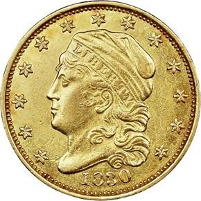 1830 BD-1 $2.5 MS obverse