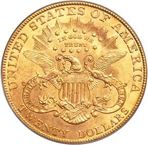 1905 $20 MS reverse