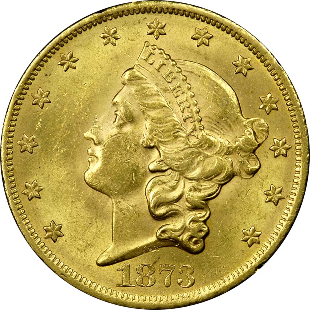 1873 OPEN 3 $20 MS obverse ...