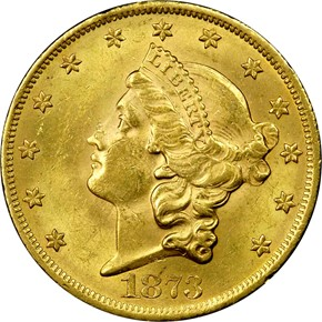 1873 OPEN 3 $20 MS obverse