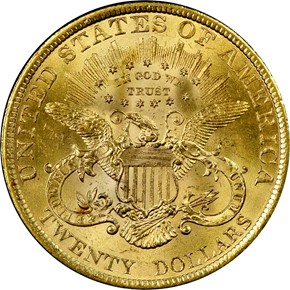 1900 $20 MS reverse