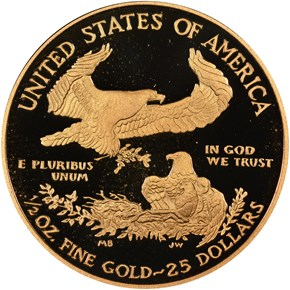2010 W EAGLE G$25 PF reverse