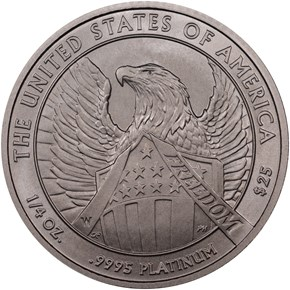 2007 W EAGLE BURNISHED PLATINUM EAGLE P$25 MS reverse