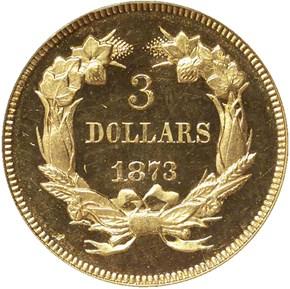 1873 OPEN 3 $3 PF reverse