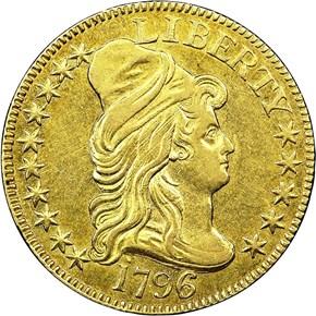 1796/5 BD-1 $5 MS obverse