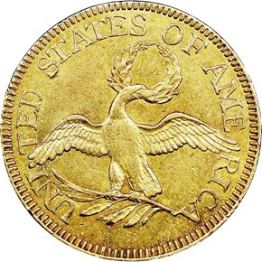 1797 SMALL EAGLE 16 STARS OBV $5 MS reverse