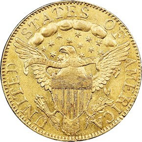 1798 LARGE EAGLE SM 8 $5 MS reverse