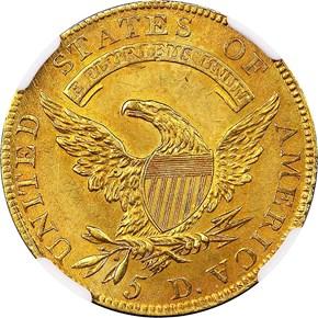 1809/8 BD-1 $5 MS reverse