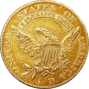 1810 SM DATE SMALL 5 BD-2 $5 MS reverse