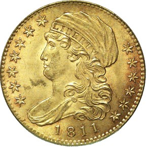 1811 $5 MS obverse