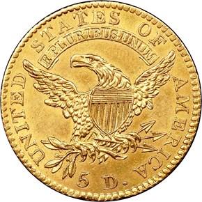 1813 $5 MS reverse