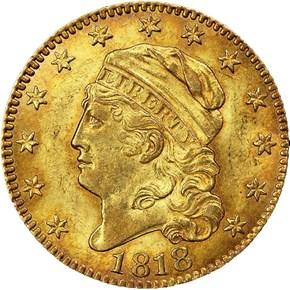 1818 BD-1 $5 MS obverse