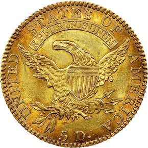 1818 BD-1 $5 MS reverse