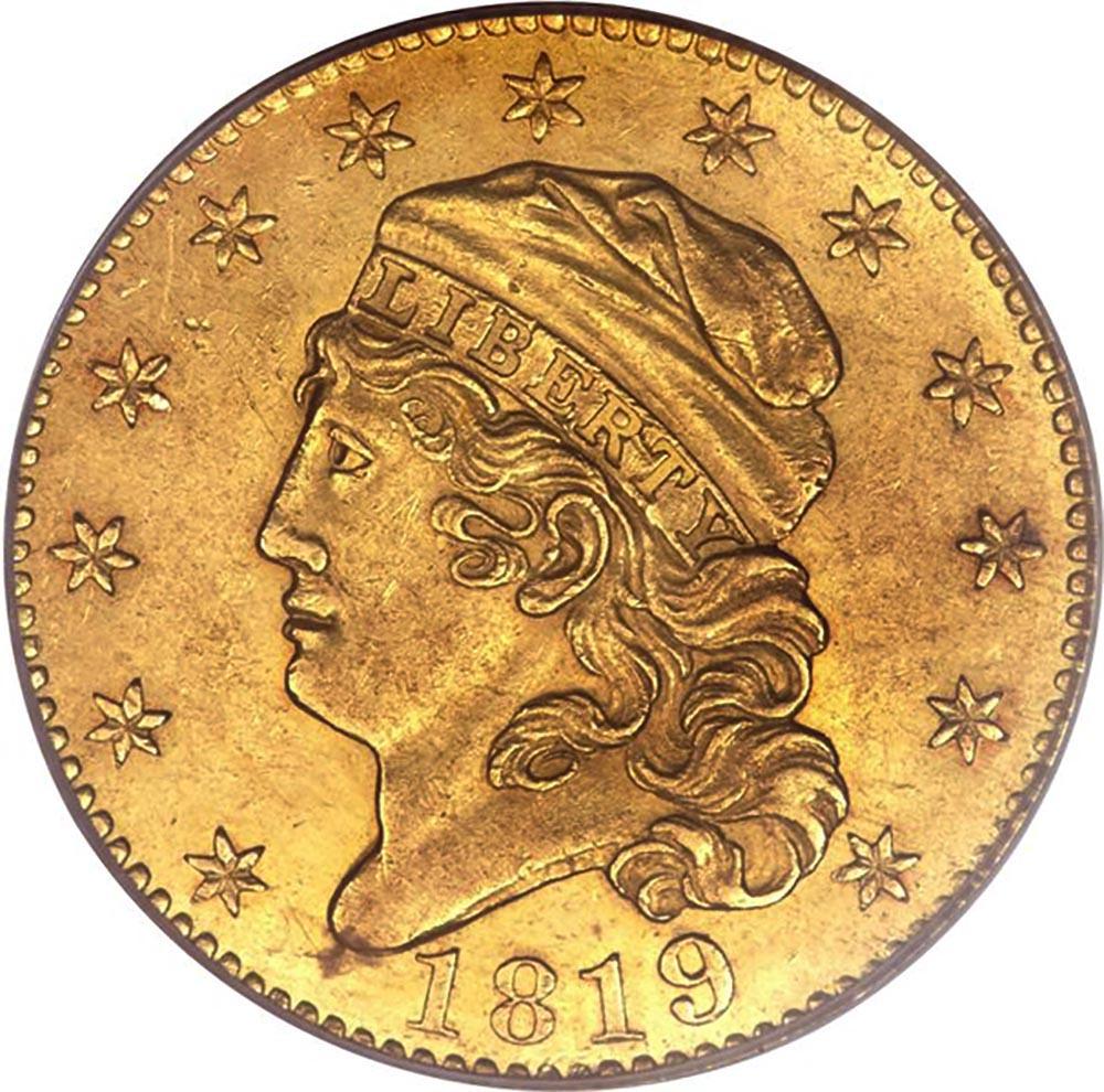 1819 5D/50 BD-1 $5 MS obverse ...