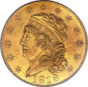 1819 5D/50 BD-1 $5 MS obverse