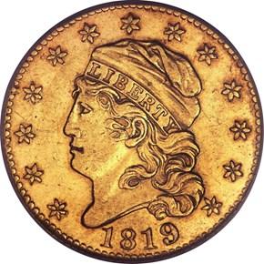 1819 BD-2 $5 MS obverse