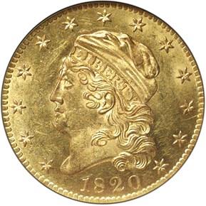 1820 $5 MS obverse