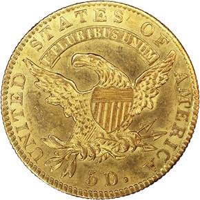 1820 CURL 2 SM LETTERS $5 MS reverse